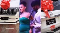 Diamond Platnumz gifts Kenyan lover Tanasha a car as she expects his baby boy (videos)