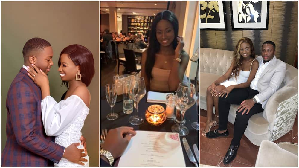 Nigerian man marries lady he took out Valentine's Day in 2020, wedding photo stirs reactions