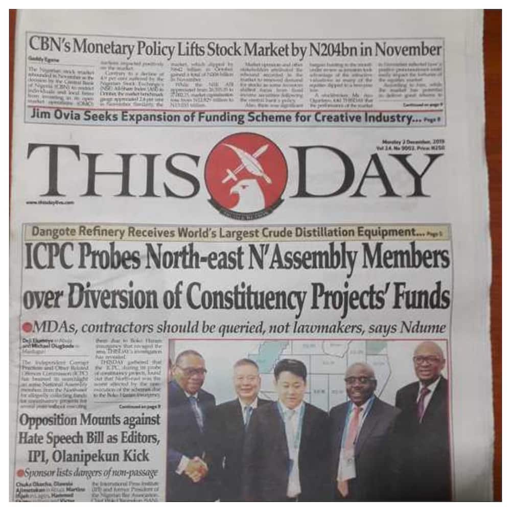 Nigerian Newspapers review for Monday, December 2: Private sector rejects finance bill