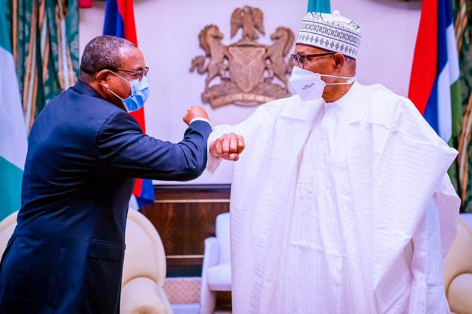 President Buhari receives in audience former Prime Minister of Ethiopia H.E. Hailemariam Desalegn