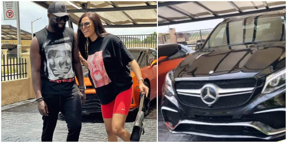 Yomi Casual surprises wife as he appreciates her with Mercedes Benz
