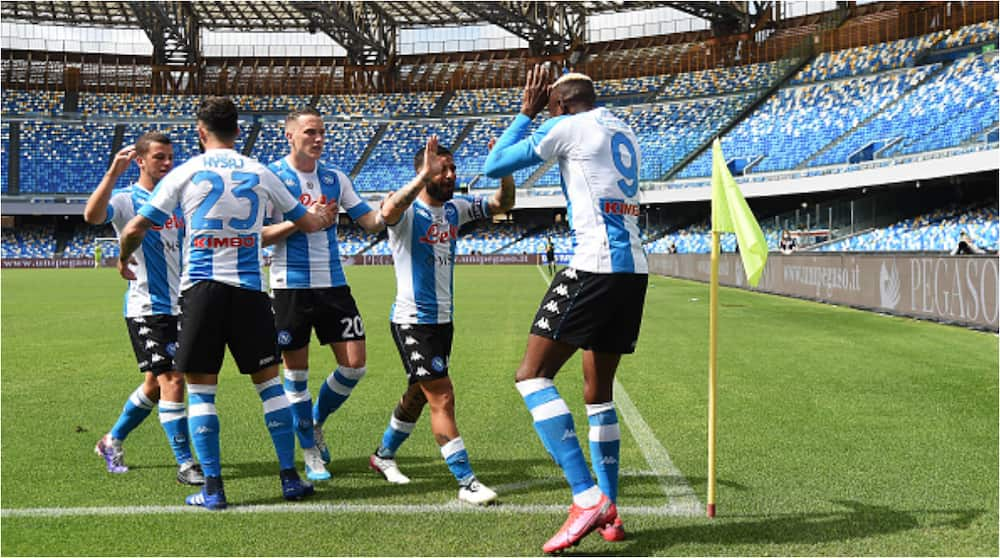 Super Eagles Star Victor Osimhen Scores and Limps Off As Napoli Hold Tough Serie a Team