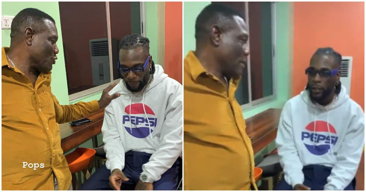 Singer Burna Boy and his dad Samuel Ogulu spotted in rare