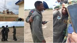 Video shows emotional moment Airforce officer is escorted to meet his boss after surviving attack on his jet