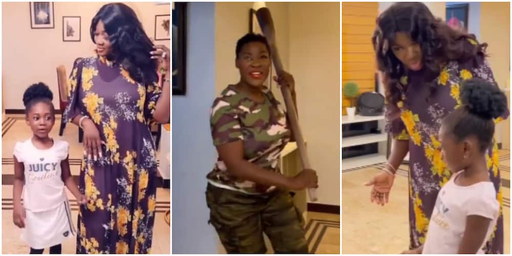 Actress Mercy Johnson's 2nd Daughter Angel Shocks Fans With Acting Skills in Hilarious Video With Her Mum