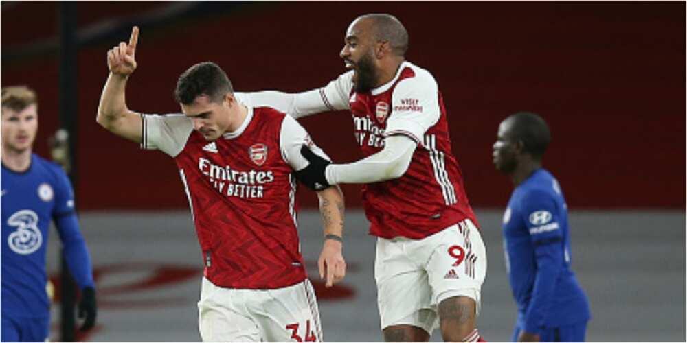 Arsenal vs Chelsea: Lacazette, Xhaka scores as Gunners win by 3-1