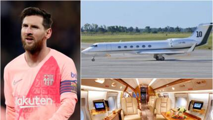 Inside Messi's £12million private jet which has 1 kitchen, 2 bathrooms, 16 seats and 8 beds (photos)