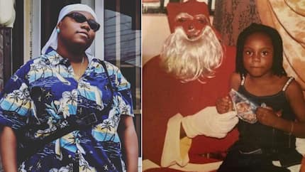 Popular musician releases hilarious throwback photo of her younger self and a funny-looking Santa Claus