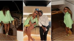 Beyoncé poses with JayZ inside megayacht that costs N1.6bn weekly as they vacation abroad