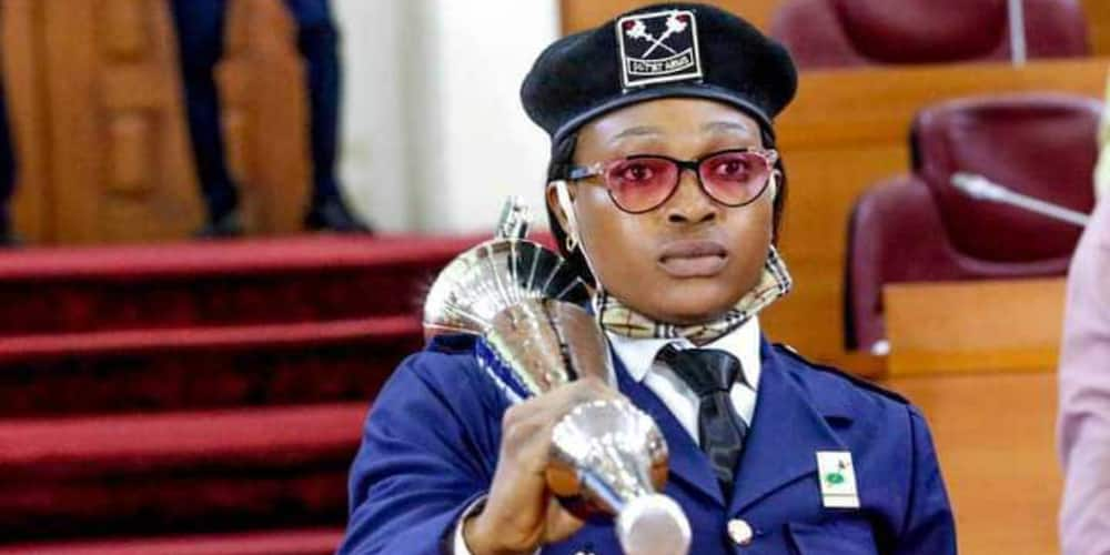 Woman bears Lagos Assembly mace after 41years