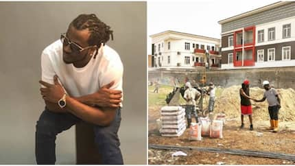 Paul Okoye of defunct PSquare music group set to build new mansion in Lagos (photos, video)