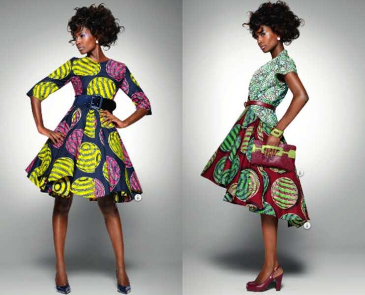 A line Ankara dresses