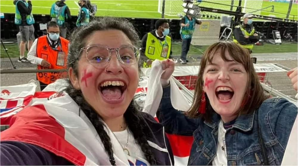 Angry Boss Sacks Staff After She Was Caught On TV at Wembley Semi-final Between England and Denmark