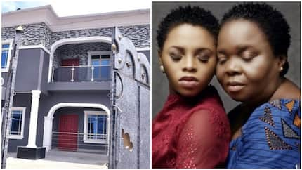 See photos of the multi million naira mansion Nigerian female singer gifted her mom as 60th birthday present