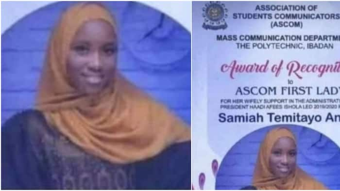 Are these leaders of tomorrow? Reactions as students give award to lady for being lover of their president