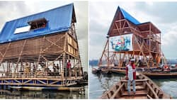 Photos of what the first Nigerian floating school looked like before its collapse