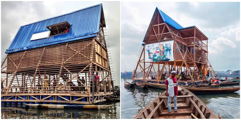 Photos of what the first Nigeria floating school looked like before its collapse