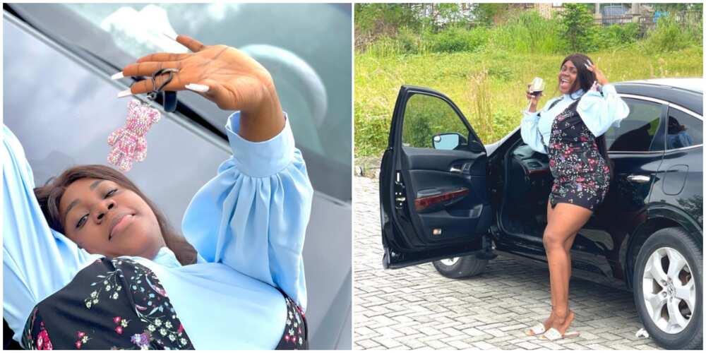 Comedian Ada Jesus hits 400K followers on Instagram, buys own car