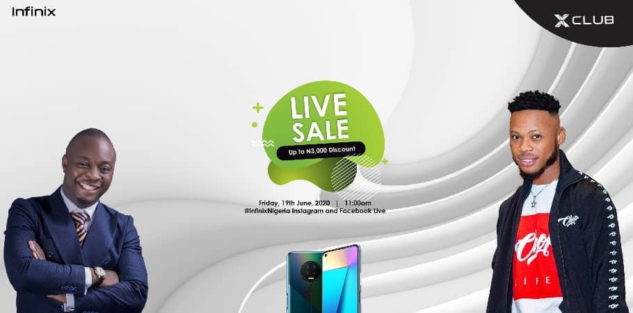 Join the Infinix Live sale with MC Lively, Poco Lee to get discount on your NOTE 7 and HOT 9 purchase