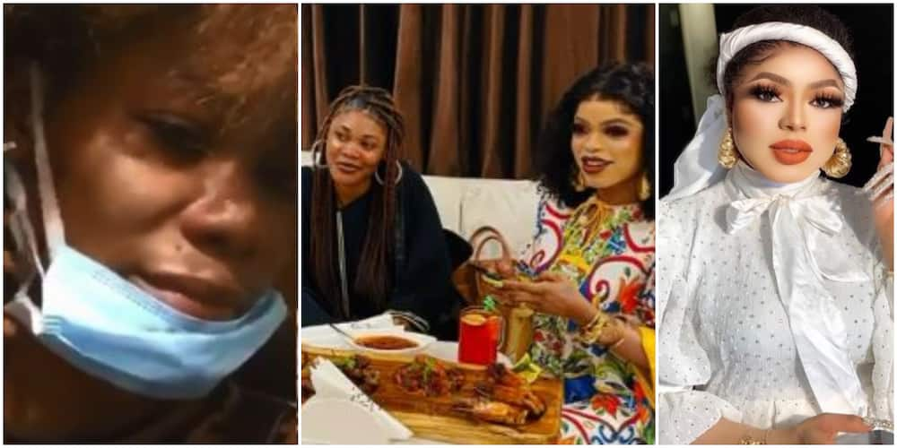 Ivorian Lady Who Got Tattoo of Bobrisky Cries Out, Claims Crossdresser Beat Her Up and Sent Her Packing