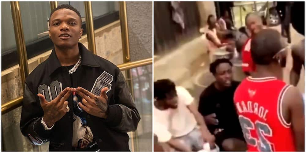 Group of young men spotted singing and dancing to Wizkid's Ginger song