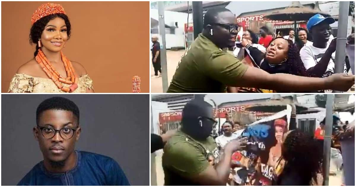 Fans of BBNaija housemates Seyi and Tacha reportedly clash in Lagos (video)