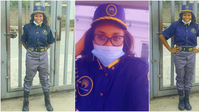 Lady who lost job due to COVID-19 now works as security guard despite studying for masters, reveals challenges