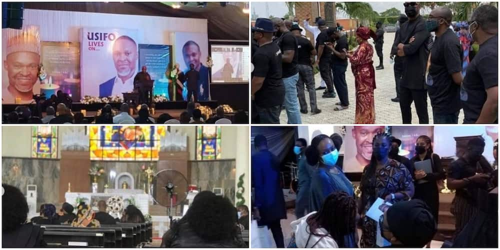 Reactions as video and photos from the burial ceremony of slain Super TV CEO Usifo Ataga emerges