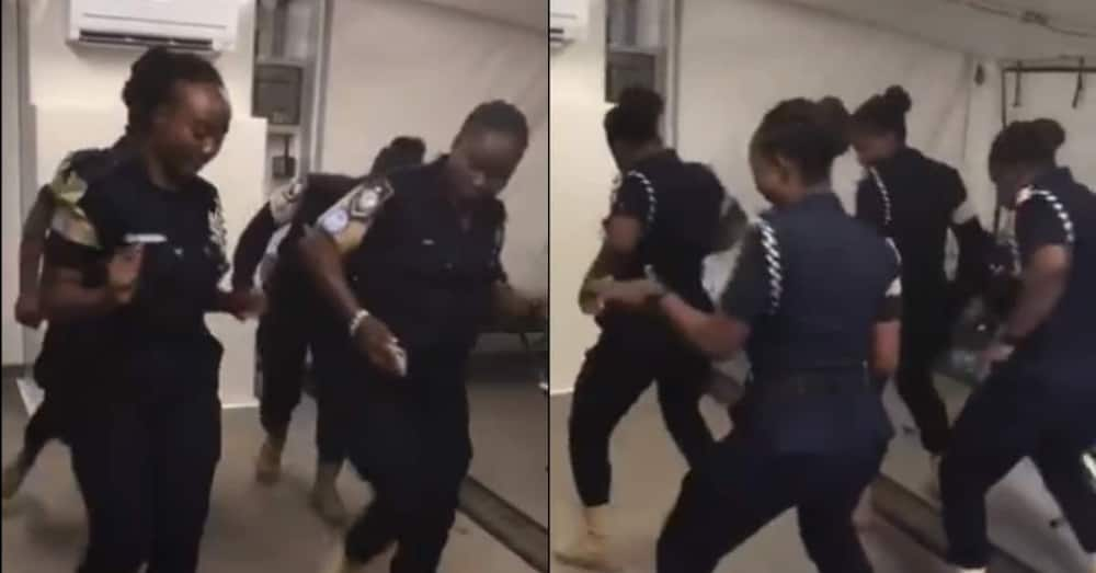 Pretty Ghanaian policewomen join the Putuu challenge with amazing choreography