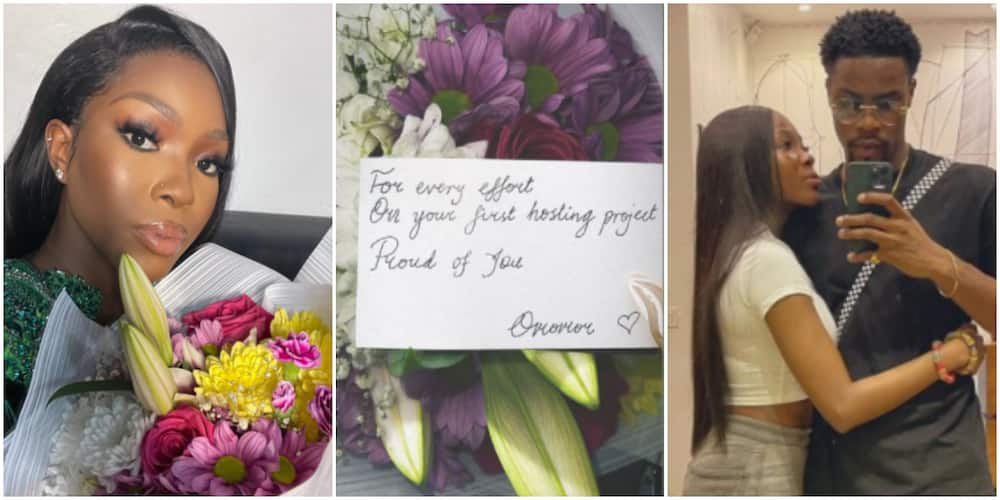 It Will End in Marriage: Fans React As BBNaija's Vee Flaunts Beautiful Flowers and Cute Note From Neo