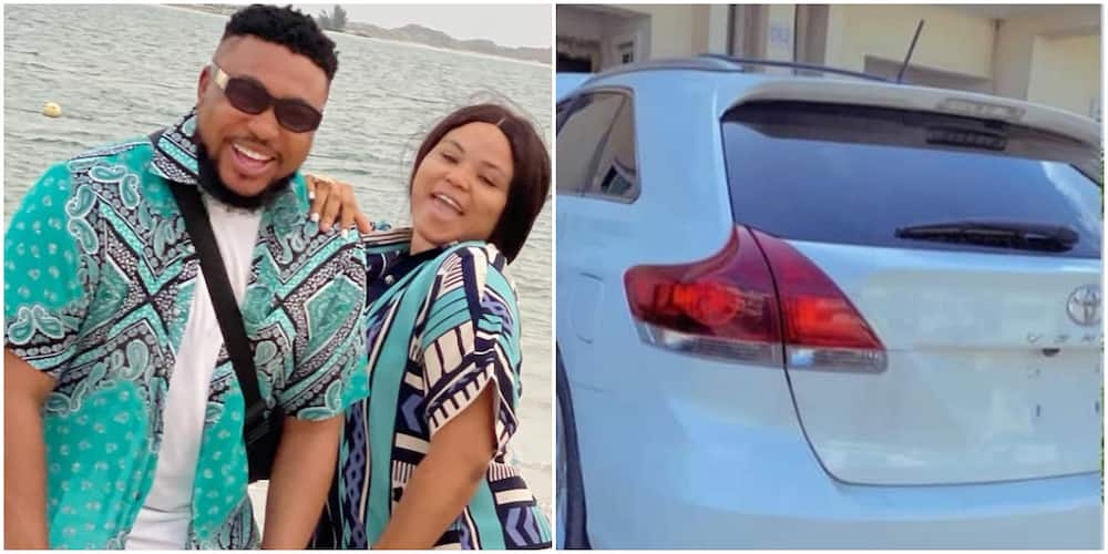 Actor Nosa Rex and wife