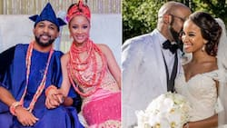 10 most romantic photos of Banky W and Adesua Etomi to celebrate their one year anniversary