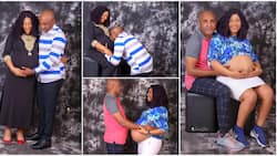 Nigerian man and wife welcome births of four kids, people celebrate them, photos go viral