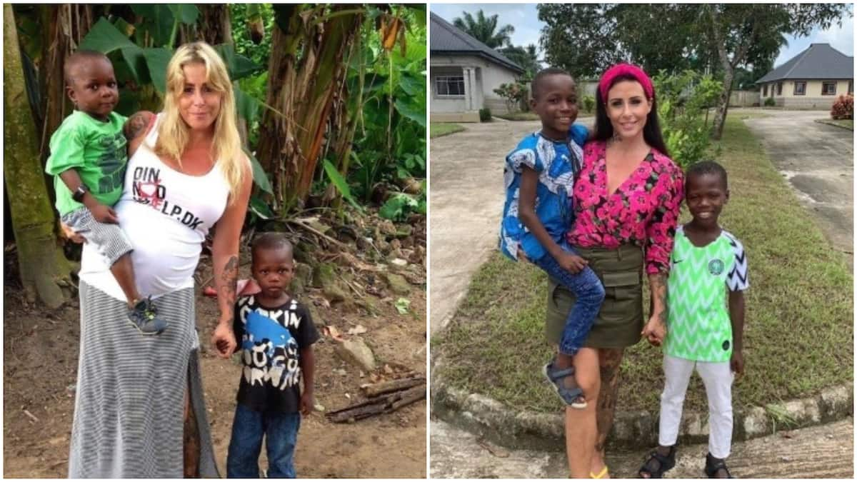 Before and after photos of children rescued after being accused of witchcraft