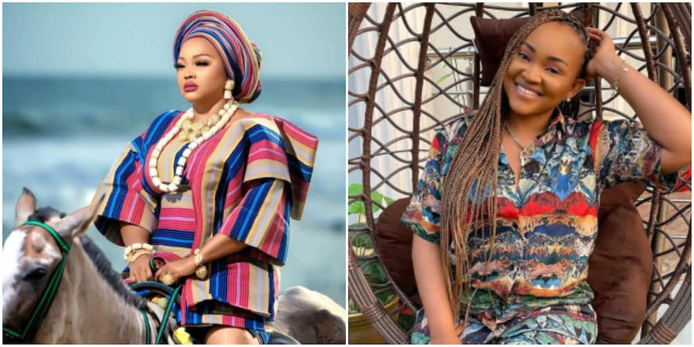 Nigerians gush over gorgeous photo of actress Mercy Aigbe on a horse as she calls herself a queen