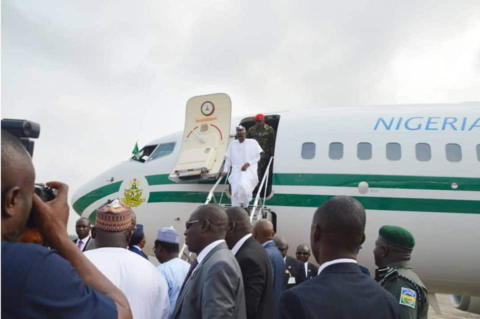 Buhari arrives Chad for CEN-SAD meeting