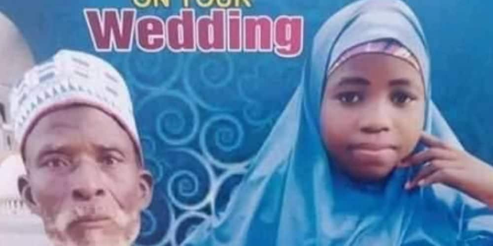 Angry outburst as journalist shares photo of little girl who got married to an old man in the north
