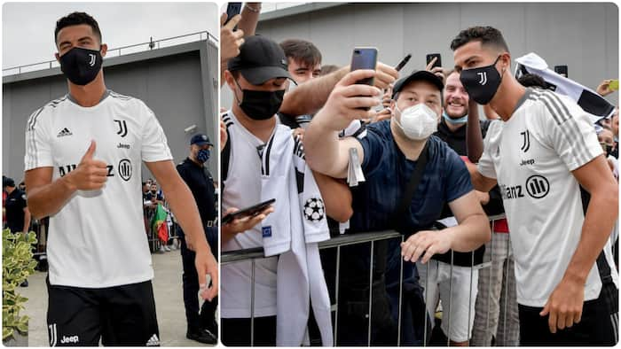 Jubilation as Ronaldo gives Juventus fans special gift after returning to club ahead of next season