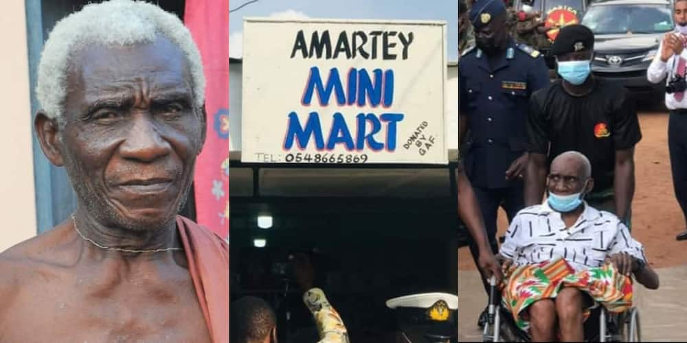 Prince Amartey: GFA builds provision shop for disabled Olympic medalist, photos emerge
