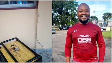 Nigerian dad narrates how he had to take a generator to the hospital for his child's treatment (photo)