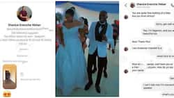 Nigerian man weds American lady who DMed him first on Instagram, screenshots of their chats spark reactions