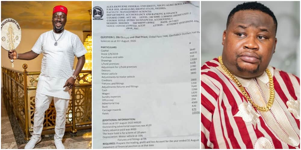 Nigerians react as businessmen Obi Cubana and ChiefPriest are featured in a university examination