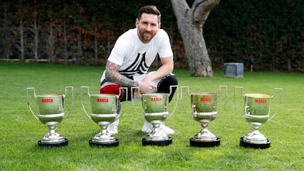 Messi shows off 5 Pichichi trophies as he takes total number of individual awards to 160