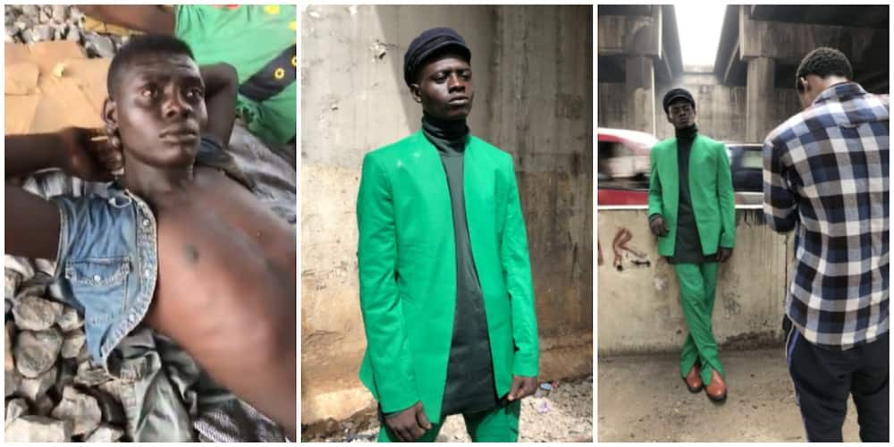 Man Sleeping Under Bridge in Lagos Turns Model after Being Spotted by Photographer