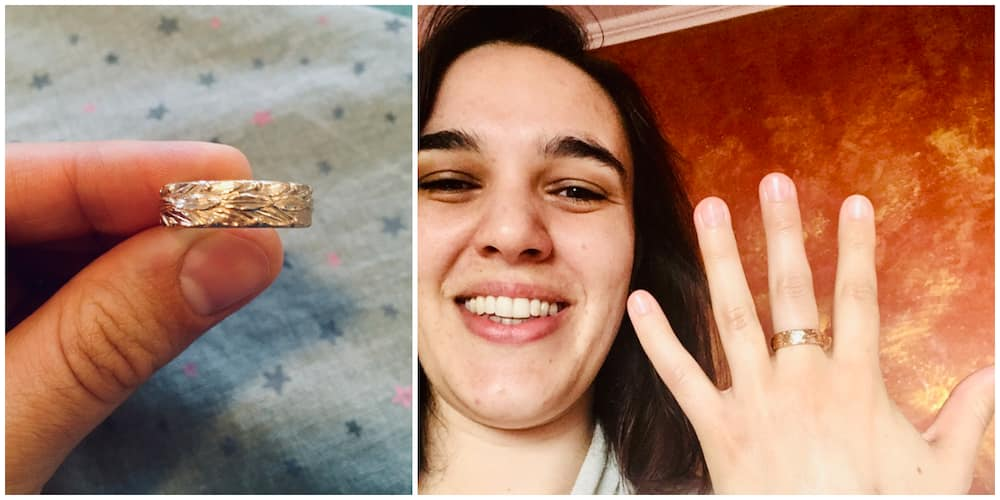 Lady Gets 'Special Ring' as She Bags PhD in Sweden, Gives Reason Why She Got a Ring from the Institution