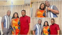 Photos, Video as Nollywood Stars Zubby Michael and Yvonne Jegede Pay MC Oluomo Surprise Visit in Oshodi
