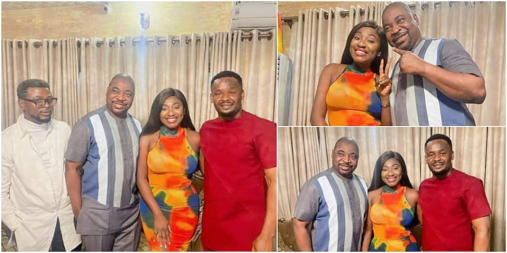 Nollywood Stars Zubby Michael and Yvonne Jegede Pay Mc Oluomo Surprise Visit