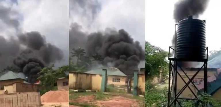 Da Ɗuminsa: Yan Bindiga Sun Sake Banka Wuta a Ofishin Hukumar Zaɓe INEC
