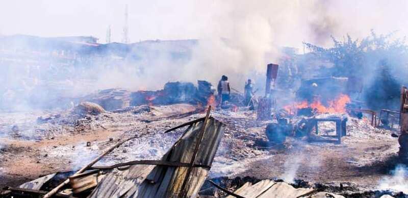 Massive losses as Ketu plank market in Lagos goes aflame