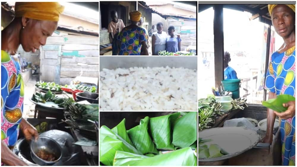 Kind Nigerian trader sells cooked rice for N10, fried meat N10, says she doesn't want hardship for customers